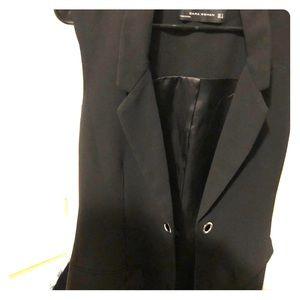 Vest Blazer Zara black- no arms- pockets-ruban